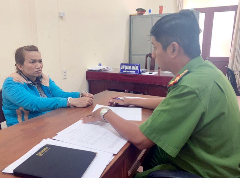 Thủ phạm chiếm đoạt tài sản của học sinh tại cơ quan Công an.