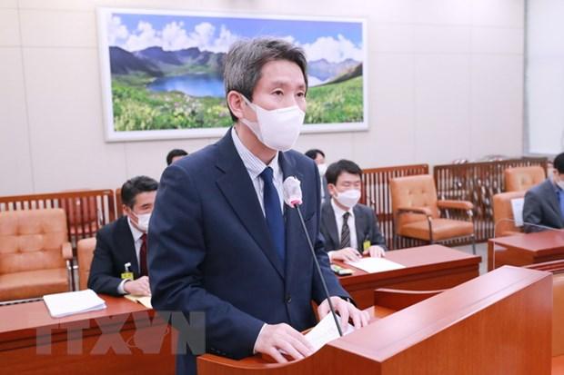 Bộ trưởng Thống nhất Hàn Quốc Lee In-young. Ảnh: Yonhap/TTXVN
