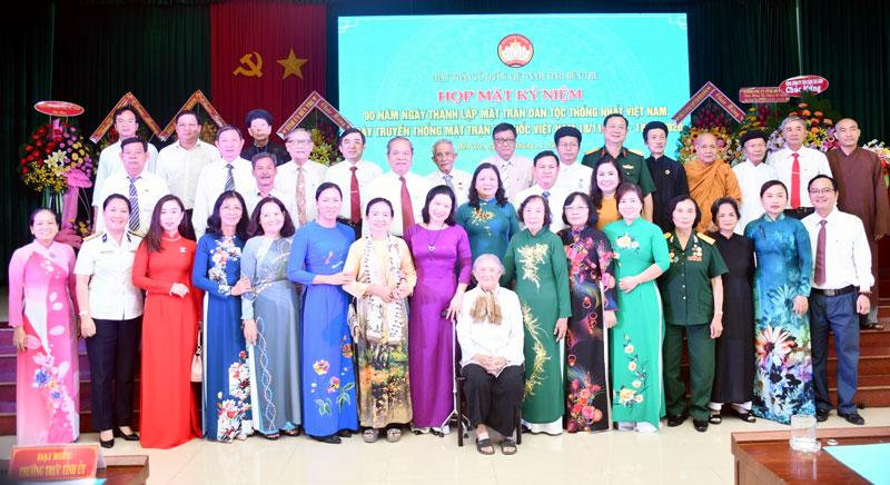Đại biểu dự họp mặt kỷ niệm 90 năm Ngày truyền thống MTTQ Việt Nam. Ảnh: Thu Huyền