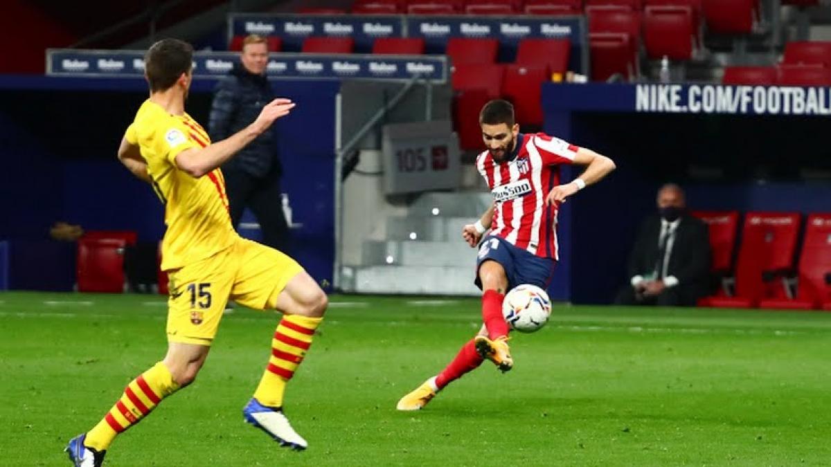 Yannick Carrasco ghi bàn thắng duy nhất của trận đấu. Ảnh: Reuters
