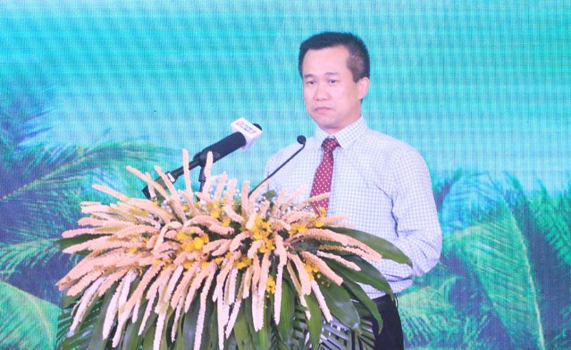 Phó vụ trưởng phụ trách Vụ Phát triển Khoa học và Công nghệ địa phương Chu Thúc Đạt phát biểu.