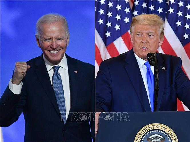 Tổng thống Mỹ Donald Trump (phải) và ứng cử viên Tổng thống đảng Dân chủ Joe Biden. Ảnh: AFP/TTXVN