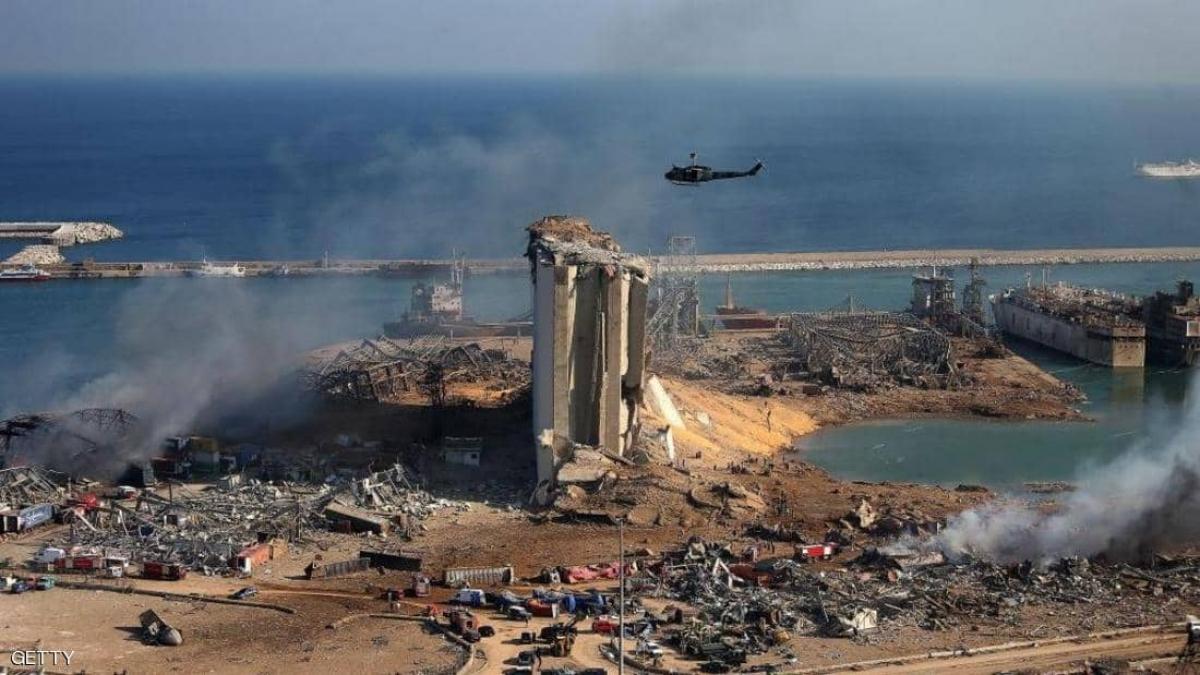 Toàn cảnh vụ nổ ở cảng Beirut ngày 4-8-2020. Ảnh: Getty