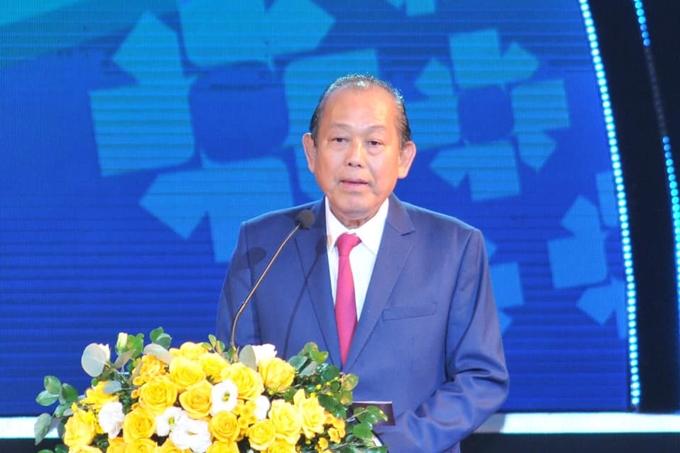 Phó thủ tướng Thường trực Chính phủ Trương Hòa Bình tham dự và phát biểu tại Lễ Công bố.
