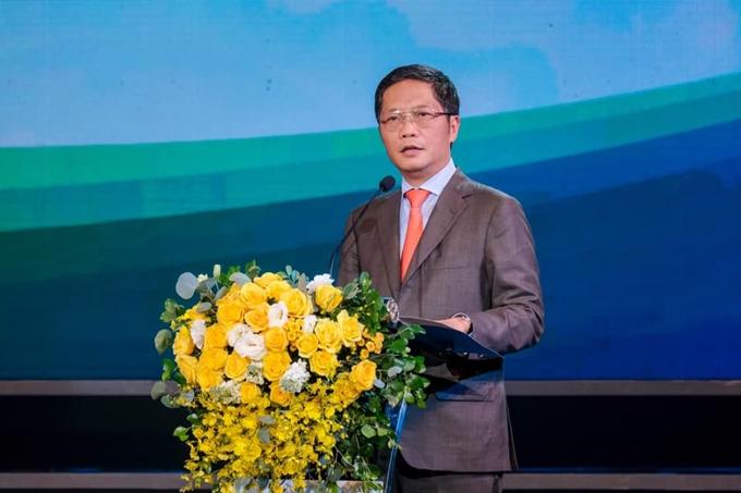 Bộ trưởng Bộ Công Thương Trần Tuấn Anh - Chủ tịch Hội đồng Thương hiệu quốc gia Việt Nam phát biểu khai mạc buổi lễ.
