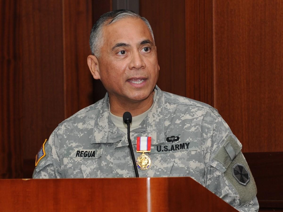 Tướng Eldon P. Regua khi còn đương chức. Ảnh: AP