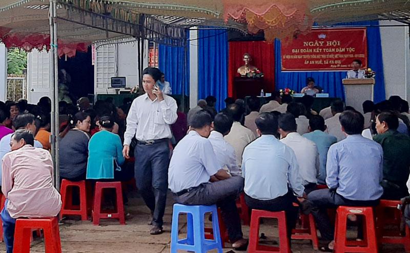 Ngày hội đại đoàn kết toàn dân tộc điểm ở ấp An Huề, xã An Qui.