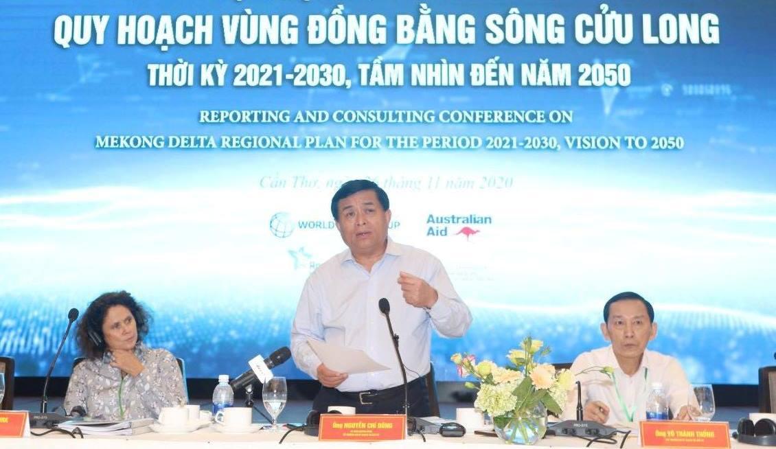 Bộ trưởng Bộ Kế hoạch và Đầu tư Nguyễn Chí Dũng phát biểu kết luận Hội nghị. Ảnh: MPI