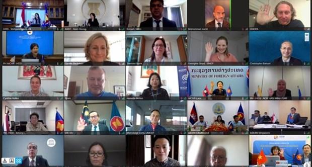 Cuộc họp đặc biệt của AICHR theo hình thức trực tuyến. Nguồn: dangcongsan.vn