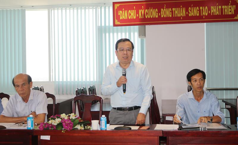 Giám đốc Sở TN&MT Bùi Minh Tuấn kết luận hội thảo.