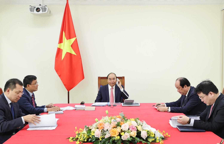 Tại cuộc điện đàm, Thủ tướng Chính phủ Nguyễn Xuân Phúc khẳng định Việt Nam luôn coi trọng phát triển quan hệ hữu nghị và hợp tác nhiều mặt với Hà Lan. Ảnh: VGP/Quang Hiếu