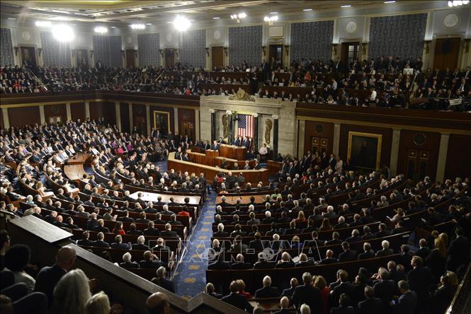 Toàn cảnh cuộc họp Quốc hội Mỹ tại Washington, DC. Ảnh minh họa: AFP/TTXVN