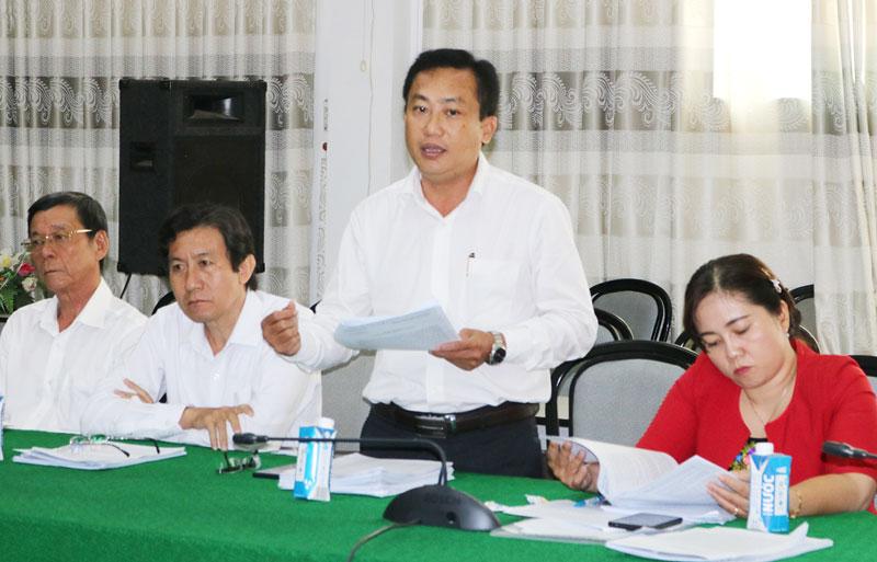 Giám đốc Sở Tài chính Võ Văn Phú phát biểu. Ảnh: P.Hân