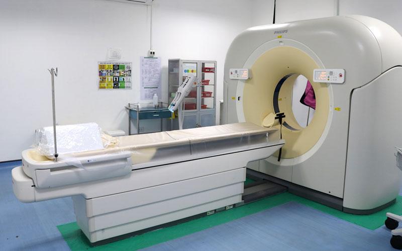 Máy chụp cắt lớp vi tính đa dãy (CT-Scanner 128 lát cắt).