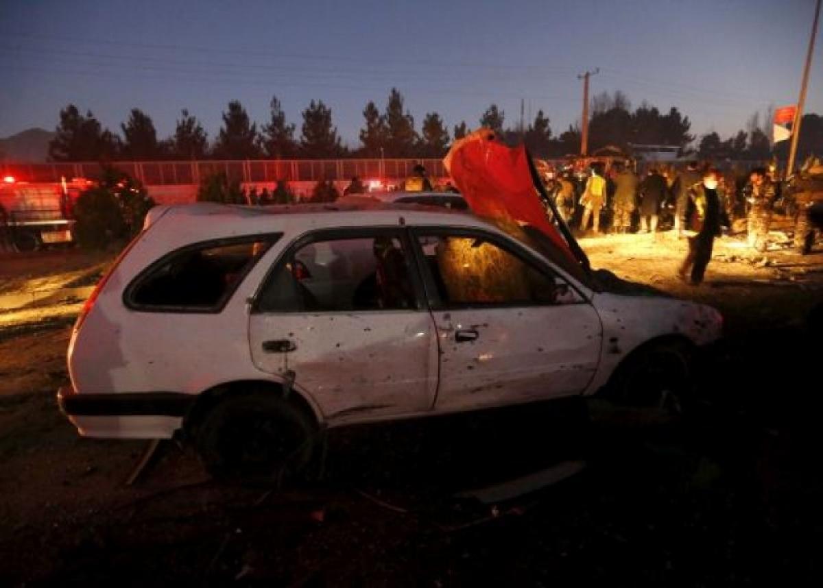 Hiện trường vụ đánh bom liều chết xảy ra gần Đại sứ quán Nga ở thủ đô Kabul năm 2016. Nguồn: Reuters