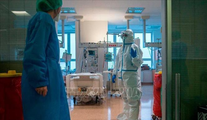 Khoa đặc trị bệnh nhân COVID-19 tại Prague, CH Séc ngày 14-10. Ảnh: CNN/TTXVN