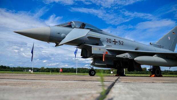 Trong cuộc tập trận, Không quân Đức đã thực hành vận chuyển bom hạt nhân chiến thuận B61 tại Căn cứ Không quân Büchel. (Ảnh: AFP)