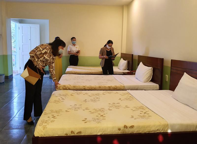 Tổ thẩm định kiểm tra điều kiện cơ sở vật chất phục vụ lưu trú tại khách sạn Đông Nam Á 2.
