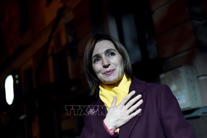 Tổng thống đắc cử Moldova Maia Sandu. Ảnh: AFP/TTXVN