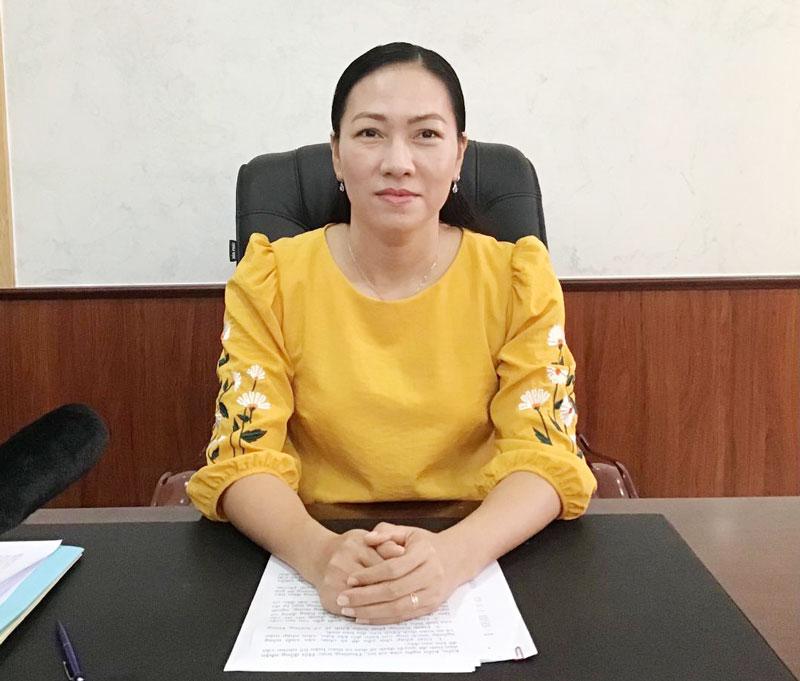 Phó chủ tịch HĐND tỉnh Nguyễn Thị Yến Nhi.