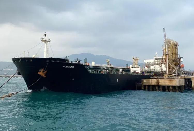 Tàu chở dầu Iran tại cảng ở Carabobo, Venezuela vào tháng 5/2020. Ảnh: Getty Images