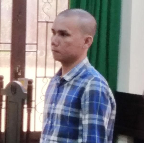 Bị cáo Nguyễn Hữu Đức tại phiên tòa.