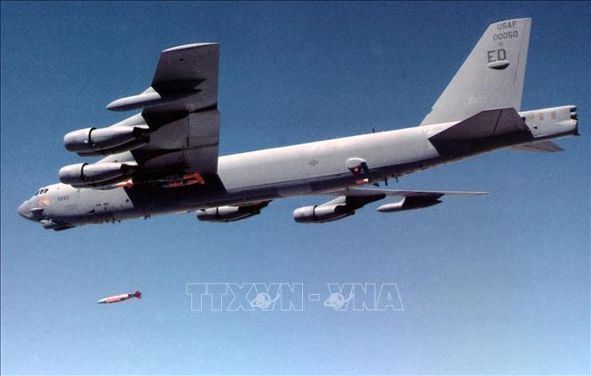 Máy bay ném bom B-52H Stratofortress của Mỹ. Ảnh: AFP/TTXVN