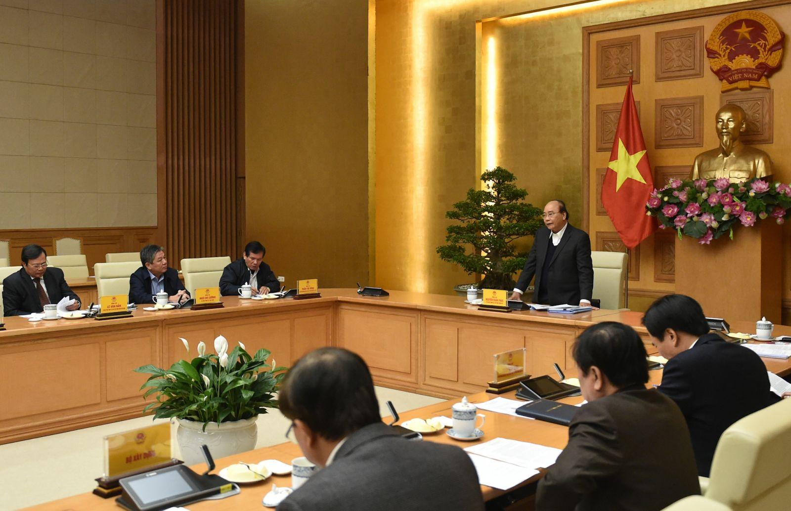 Thủ tướng làm việc với lãnh đạo tỉnh Trà Vinh ngày 18-12-2020. Ảnh: VGP/Quang Hiếu
