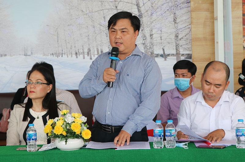 Đại diện Trường Cao đẳng nghề du lịch Sài Gòn phát biểu tại hội thảo.