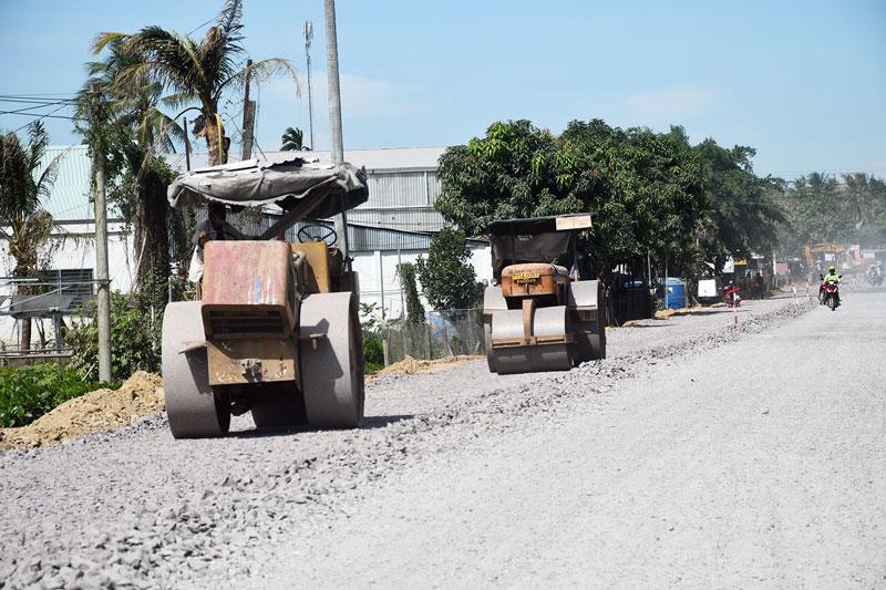 Giải tỏa đền bù công trình nâng cấp, mở rộng quốc lộ 57, được người dân đồng thuận cao.