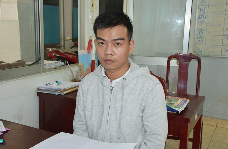 Huỳnh Kim Quốc Tài tại cơ quan công an. Ảnh: Quang Duy