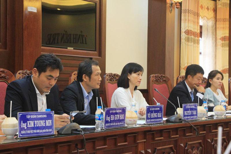 Đoàn doanh nghiệp Hàn Quốc đến tìm hiểu đầu tư lĩnh vực chuyển đổi số, phát triển đô thị. Ảnh: H.Trang