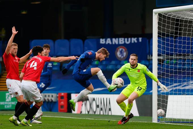 Werner ghi bàn giúp Chelsea đi tiếp ở FA Cup 2020/21