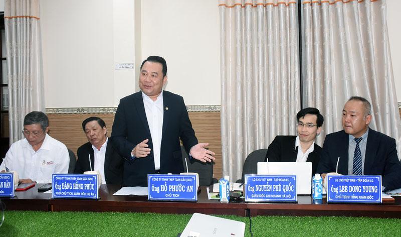 Các đại biểu Tập đoàn LG Việt Nam tại buổi làm việc.