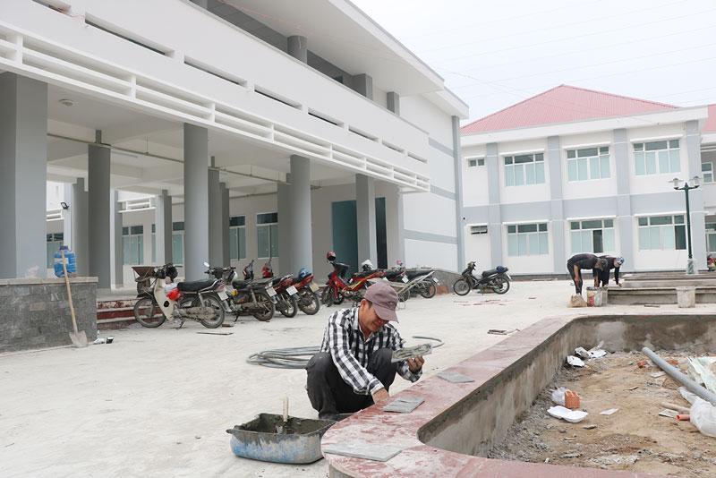 Một góc xây dựng mới tại Trung tâm Bảo trợ xã hội tỉnh.