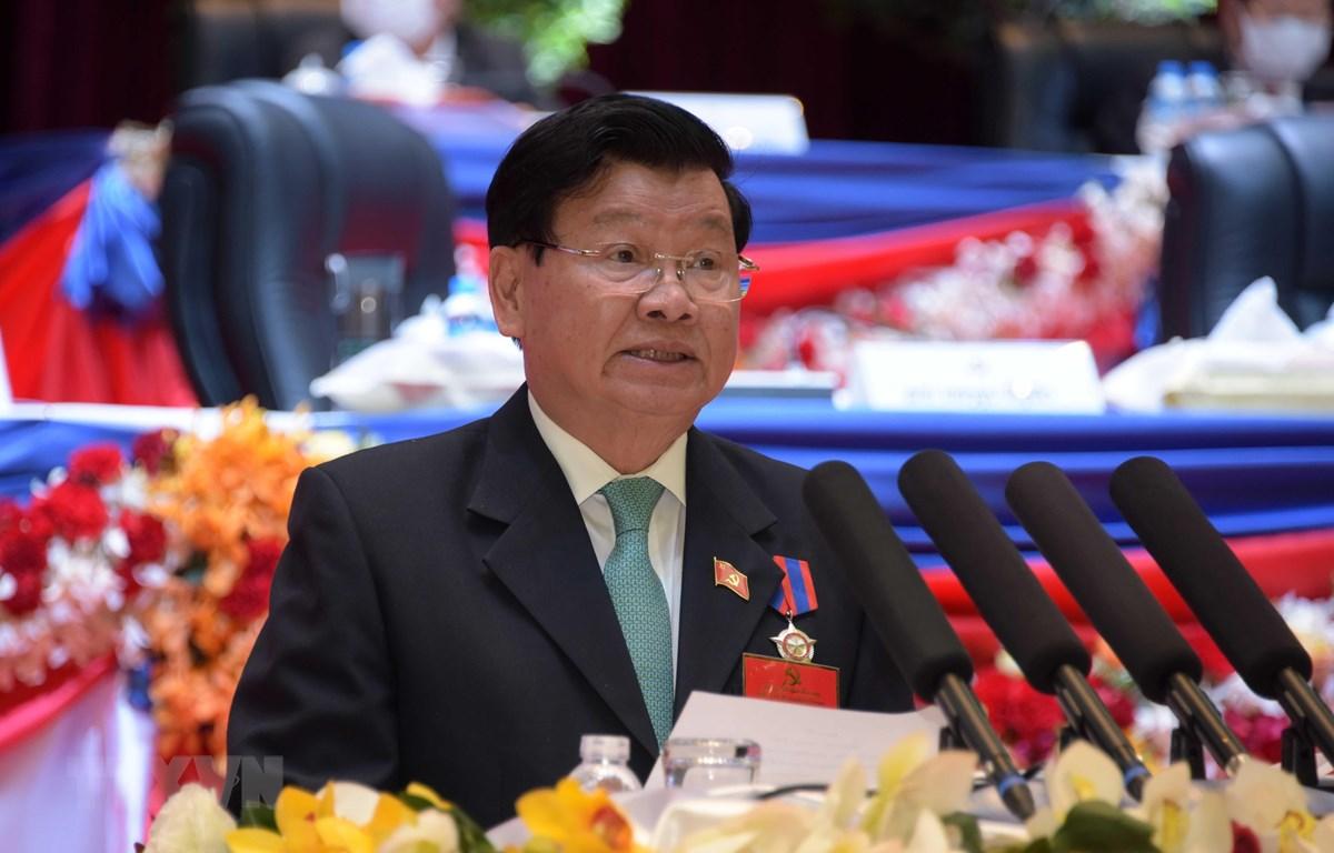 Ông Thongloun Sisoulith được bầu giữ chức Tổng Bí thư Ban Chấp hành Trung ương Đảng Nhân dân Cách mạng Lào khóa XI. Ảnh: TTXVN