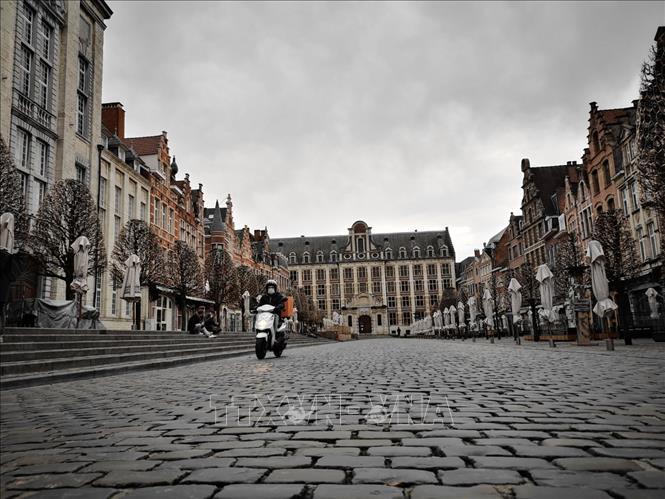 Quảng trường trung tâm thành phố Louvain, Vương quốc Bỉ. Ảnh: Đức Hùng-P/v TTXVN tại Vương quốc Bỉ