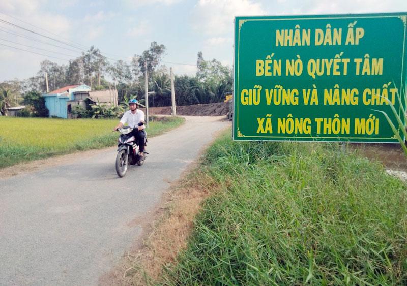Đường nông thôn ấp Bến Nò (Ba Tri).