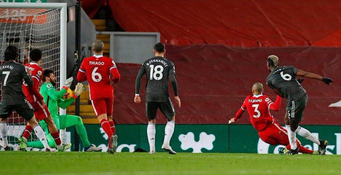 Pogba bị Alisson từ chối bàn thắng