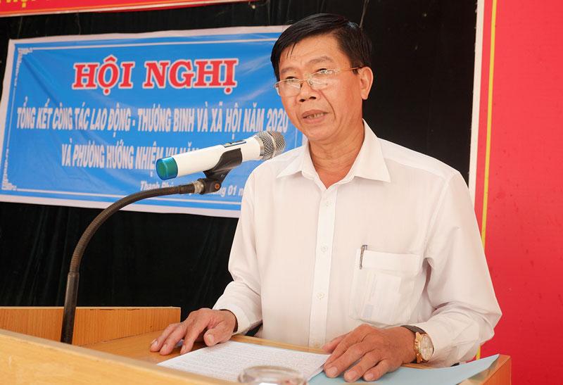 Phó chủ tịch UBND huyện Nguyễn Ngọc Tân phát biểu chỉ đạo. Ảnh: Minh Mừng