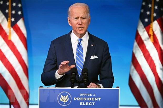 Tổng thống đắc cử Mỹ Joe Biden phát biểu tại Wilmington, Delaware, ngày 14-1-2021. (Ảnh: AFP/TTXVN)
