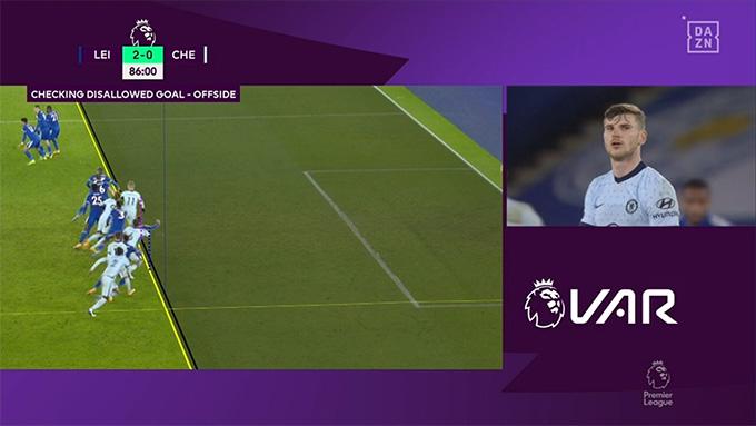 Werner bị VAR từ chối bàn thắng