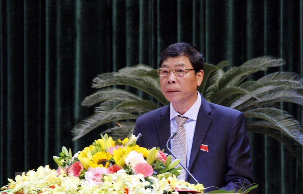Ủy ban Thường vụ Quốc hội phê chuẩn kết quả miễn nhiệm chức vụ Chủ tịch Hội đồng nhân dân tỉnh Bắc Giang khóa XVIII, nhiệm kỳ 2016-2021. Ảnh: Đồng Thúy/TTXVN