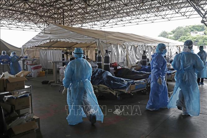 Khu cách ly điều trị cho bệnh nhân mắc COVID-19 tại Pretoria, Nam Phi ngày 11-1. Ảnh: AFP/TTXVN