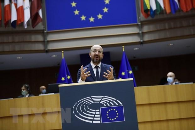 Chủ tịch Hội đồng châu Âu Charles Michel. Ảnh: AFP/TTXVN
