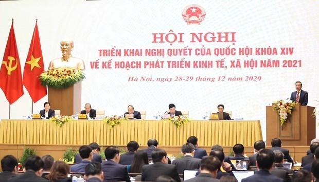 Hội nghị Chính phủ với địa phương từ ngày 28 đến 29-12-2021. Ảnh: TTXVN