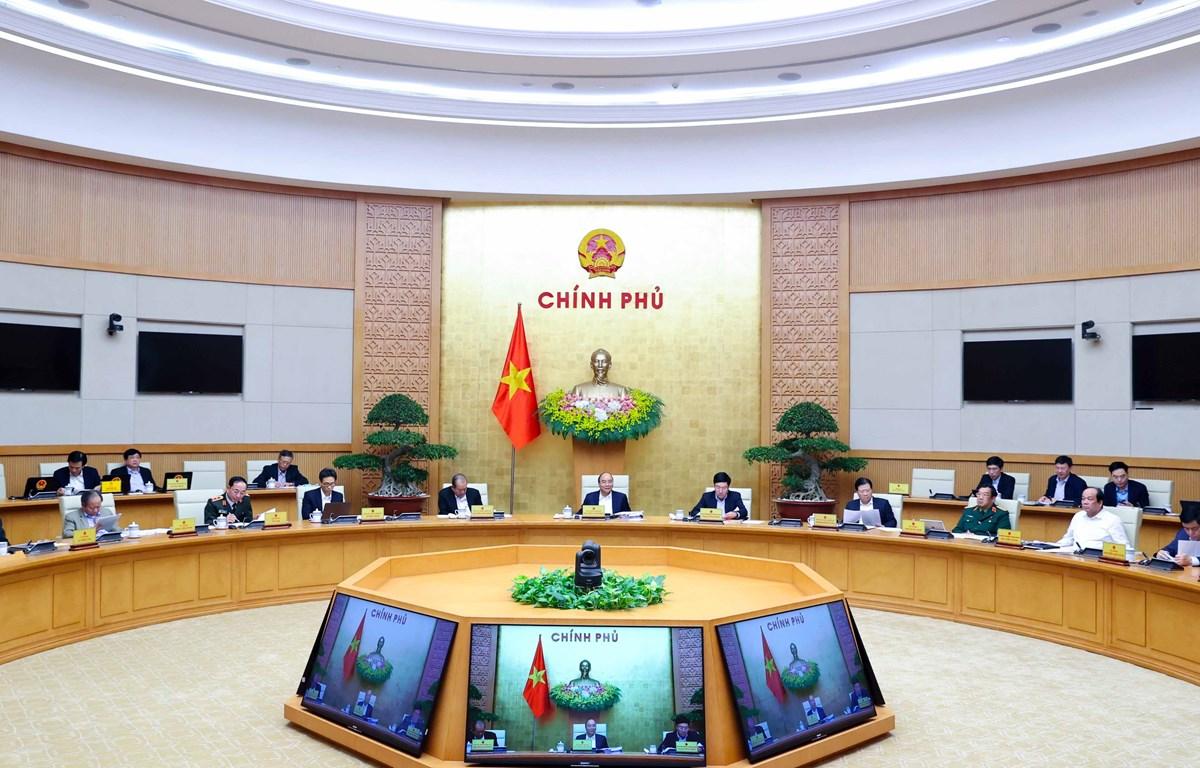 Quang cảnh phiên họp chính phủ thường kỳ tháng 12-2020. Ảnh: Thống Nhất/TTXVN