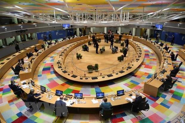 Toàn cảnh Hội nghị thượng đỉnh EU tại Brussels, Bỉ, ngày 10-12-2020. (Ảnh: AFP/TTXVN)