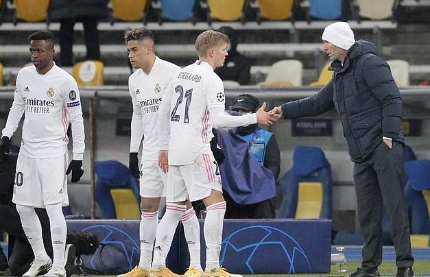 Odegaard không được trọng dụng tại Real Madrid