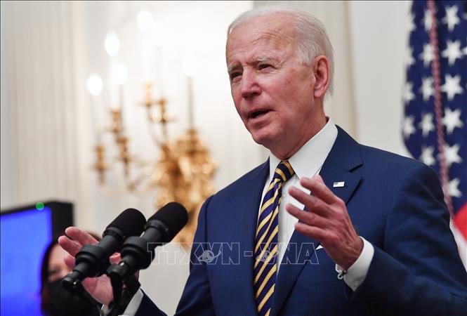 Tổng thống Mỹ Joe Biden phát biểu tại Nhà Trắng ở Washington, DC, ngày 22-1-2021. Ảnh: AFP/TTXVN